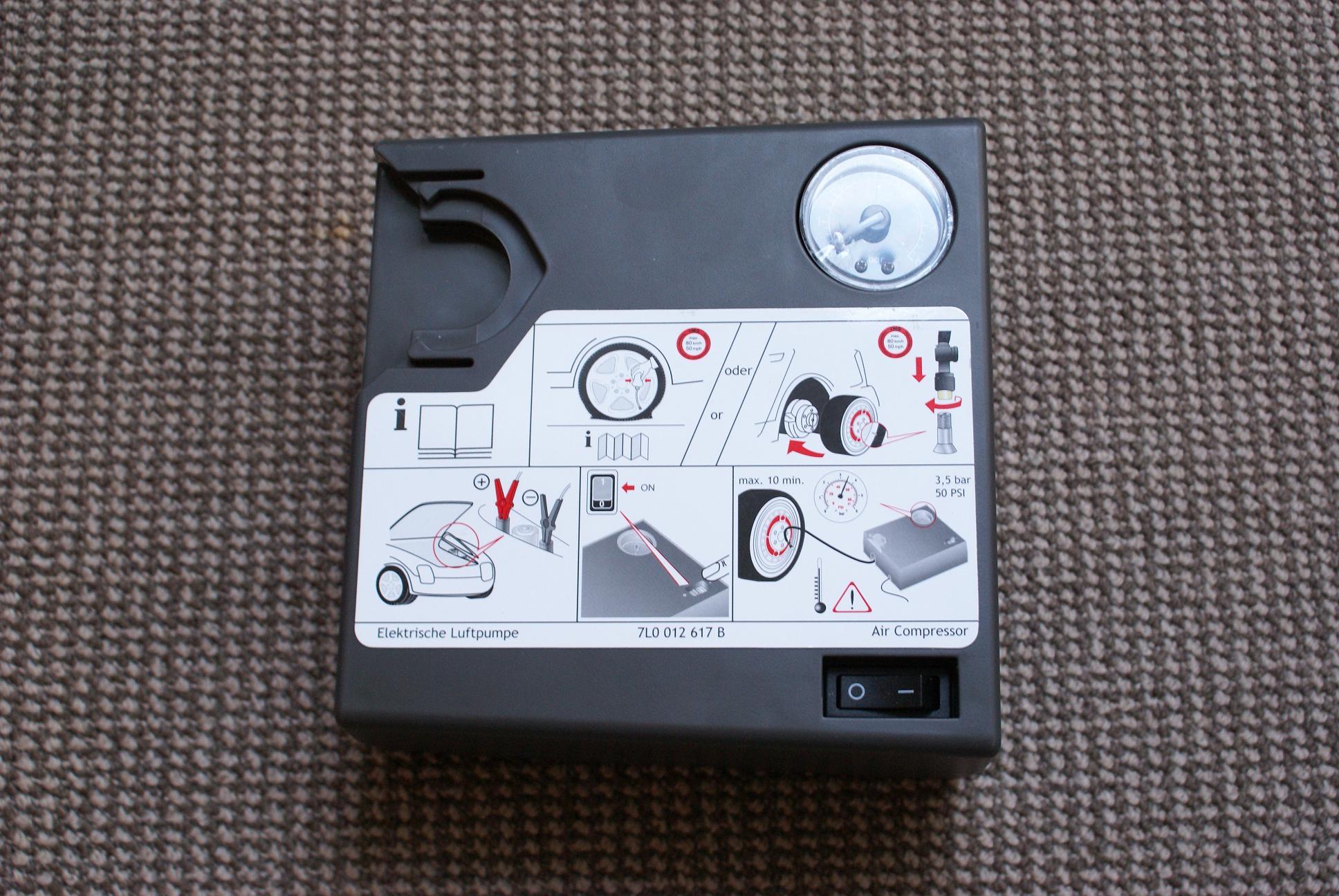 Компрессор подкачки колес VAG - 001